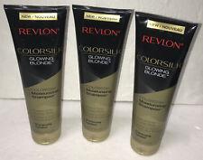 NEW Revlon ColorSilk Moisturizing Shampoo Glowing Blonde ColorStay 8.4oz Bottles