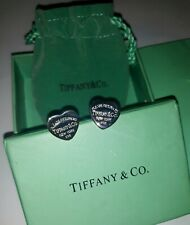Please return to Tiffany & Co. Orecchini vintage cuore medio in Argento 925