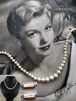 VINTAGE 1950s CIRO PEARL NECKLACE 9CT GOLD CLASP CLASSIC BRIDAL JEWELLERY GIFT