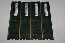LOT 4X 4GB (16GB) PC2-5300P SAMSUNG M393T5160QZA-CE6 2RX4 371-4307-01 SERVER RAM