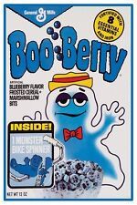 """VINTAGE BOO BERRY CEREAL POSTER 12"""" x 18"""""""