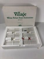 Department 56 Snow Village White Picket Fence Extensions Set of 6 52625 Birds