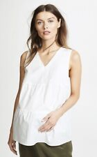 HATCH Maternity Women's THE EVELYN TOP White Poplin Size 0 (XS/0-2) NEW