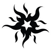 Sun Star Tribal Dragons Car Decal Window Sticker TRB019