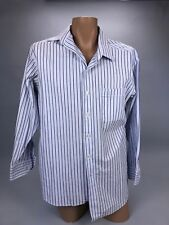 Tommy Bahama Men's Blue Striped Long Sleeve Button Down Shirt Size 16 1/2 32-33
