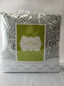 NEW COTTAGE COLLECTION 7 pc Quilt and Embroidered Sheet Set KING