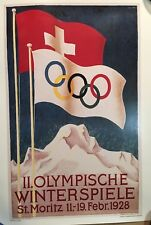 1928 Winter Olympic Games Poster Print - II.Olympische Spiele St. Moritz 18 X 13