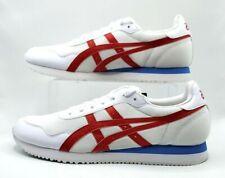 Asics Men's Tiger Runner Sneaker White-Classic Red  Size 10.5  NWT Free Ship