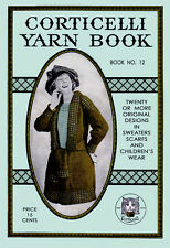 Corticelli Lessons in Knitting & Crochet #12 c.1919 - Fashion Patterns from WWI