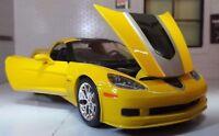 1:24 Scale Chevrolet Corvette Z06 GT1 2009 Yellow Commemorative Maisto Model Car