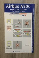 Safety Card AIR INTER EUROPE Airbus A300