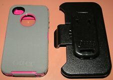 Otterbox Defender case for iPhone 4/4S, Gray & Magenta with belt clip holster