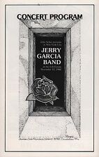 JERRY GARCIA BAND 1982 RUN FOR THE ROSES TOUR FELT FORUM PROGRAM / NM 2 MNT