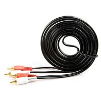 1.5m AV Audio Video Cable Cord 2-RCA Male to 2-RCA Male Dual Stereo