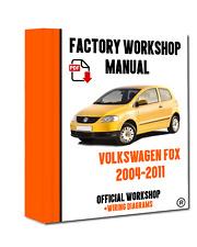 Official Workshop Manual Service Repair Volkswagen Fox 2004 - 2011 Instant