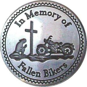Biker Memorial Fallen Biker Metal Enamel Pin Badge In Memory Of