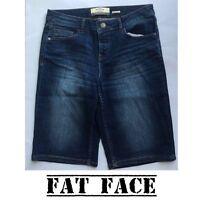 ex - Fat Face Women's Bermuda 'Opal Blue' Denim Shorts
