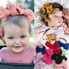 2pcs Toddler Newborn Baby Unisex Suite Hairpin Headband Elastic Bow Hair Band