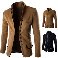Winter Men's Casual Slim Fit One Button Suit Blazer Coat Jacket Tops Plus M-XXL