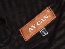 AY CAN,US DesignerSlinkyBlackStripedWrap SzUS3