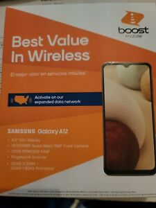 New Samsung Galaxy A12 32GB-BOOST MOBILE 1st Monthincluded