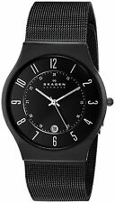Skagen Men's 233XLTMB 'Grenen' Black Titanium Watch