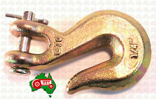 "6 mm 1/4"" Chain Clevis Grab Hook Hooks High Tensile G70 2300kg Lashing Capacity"