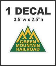 Green Mountain Route Railroad Rail Road Decal Diorama Train - Never No Pixels!
