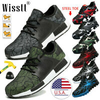 Men's Safety Lightweight Work Shoes Steel Toe Indestructible Military Boots Size
