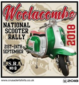 2018 WOOLACOMBE NATIONAL SCOOTER RALLY PATCH BSRA MODS SKINHEADS not PADDY SMITH