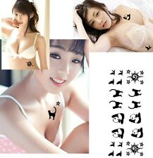 FD3909 Panda Cat Beauty Removable Waterproof Temporary Tattoo Body Stickers
