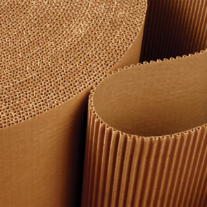 1 Roll of Corrugated Paper Roll Protective Shipping Postal Wrap 300mm x 75m