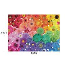 1000 Piece Rainbow Flowers Jigsaw Puzzles For Adults Education Kids B1C4