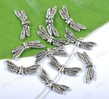 Wholesale 40pcs Tibetan Silver Heart Angel Wing Spacer Beads 20X7MM BE563