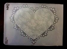 Sizzix Large Embossing Folder SCALLOP HEART DOILY  fits Cuttlebug & Wizard