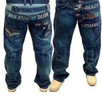 Brand New Mens Designer Denim Jeans Waist Size 30 32 34 36 38 40 42