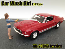 CAR WASH GIRL JESSICA FIGURE 1:18 SCALE DIECAST MODELS BY AMERICAN DIORAMA 23843