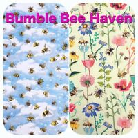 Bumblebee Bee Haven Insect Garden 100% Cotton Patchwork Craft Dress Fabric