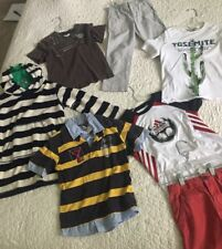 Lot Of 7 Boy Clothes 5-7 years old Zara Adidas Crew Cuts Catimini Jean Bourget