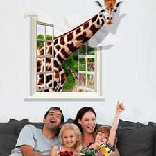 PVC Removable 3D Giraffe Individuality Creative Wall Stickers Kids Room Decor