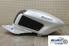 10 DUCATI 1198 OEM GAS TANK FUEL CELL PETROL PEARL WHITE