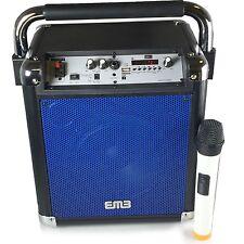 "EMB PLK500 8"" Rechargeable Portable Wireless Bluetooth Speaker 500w 7Hour BLUE"