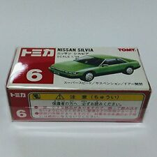 Tomica red box 6 Nissan Silvia S13 red TOMY logo 1/59 green two-tone