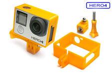 Frame + Tripod Mount f. GoPro HERO 4 Black Rahmen Zubehör Stativ Adapter Orange