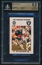 1988 Raiders Police rookie #9 Bo Jackson rc BGS 9.5