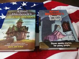Alfred Hitchcock's 2 BOOK COMBO HAUNTED HOUSEFUL & GHOSTLY GALLERY GREAT CONDITI