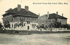 Vintage Postcard Beaverhead County High School Dillon Montana Mt