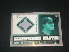 Barry Zito 2003 Flair Legend Certified Authentic Baseball Game Used Jersey Card
