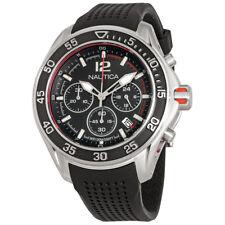 Nautica NMX 1600 Chronograph Black Dial Mens Watch NAD23503G