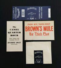 Vintage Rj Reynolds Advertising Brown Mule, Tobacco Pouch ~ Camel Quarter Hour